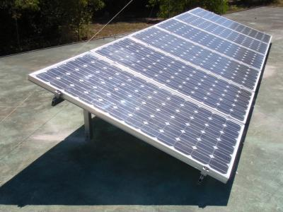 PV array on flat roof